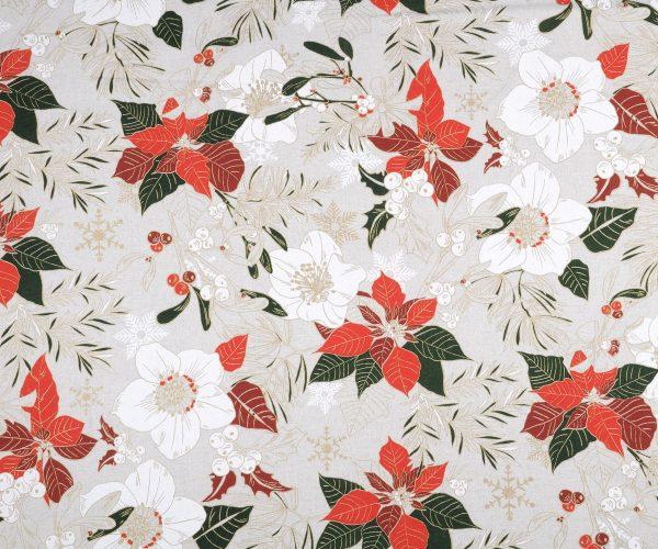 Tela di cotone Flora - Natale