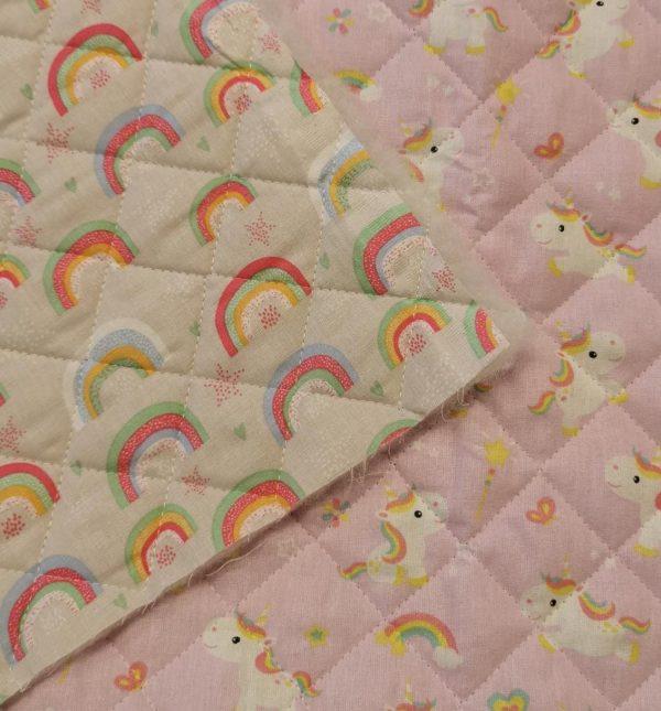 Trapunta calissa fondo rosa_rainbow grigio